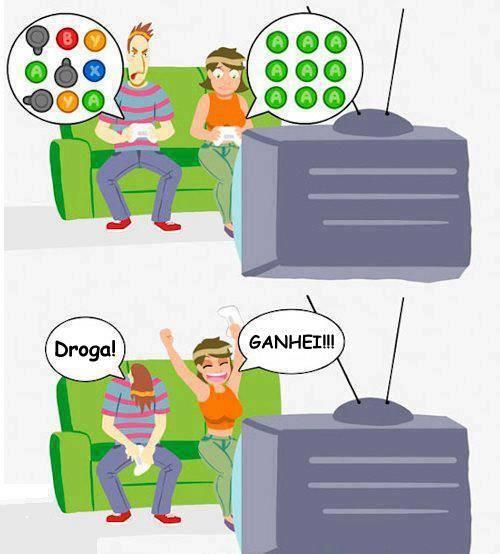 Acontece Sempre - Namorada ganha no videogame